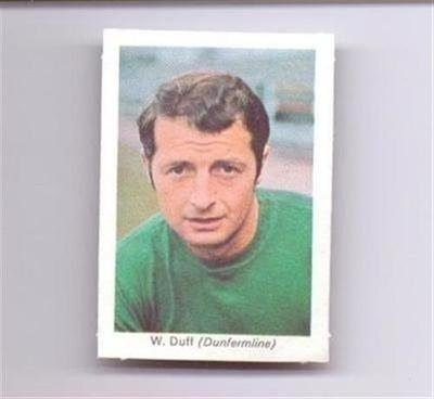 My Favourite Soccer Stars Dunfermline Athletic WILLIE DUFF old football card