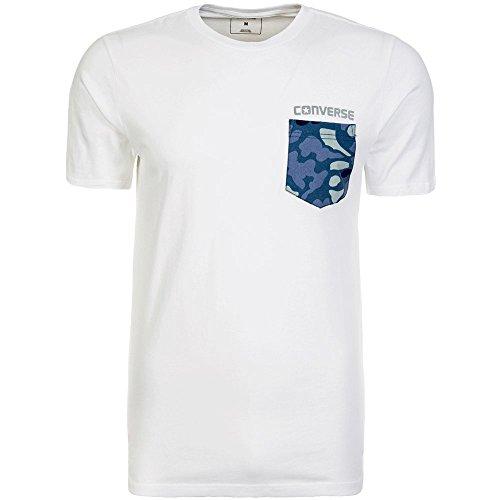 Converse Nylon Print Pocket T-Shirt Herren weiß / blau, L