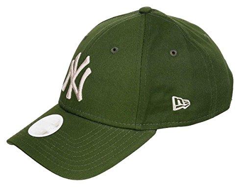 New Era 9Forty Women´s Yankees Cap Baseballcap Basecap Strapback MLB Damencap NY New York Cap Basecap (One Size - oliv)