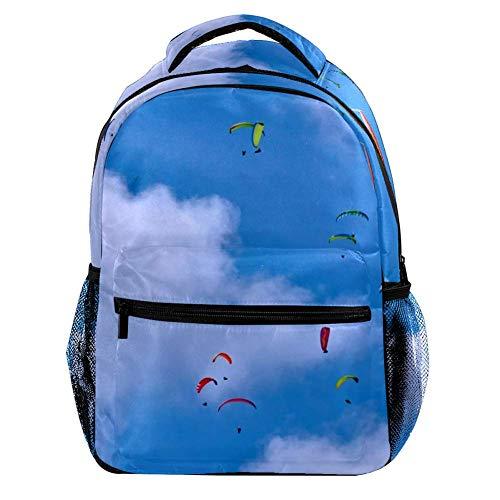 Rucksack Damen und mädchen Herren Kinder Laptop Rucksack Vintage Reisen und Schule Diebstahlsicherer Rucksack Backpacker 29.4x20x40cm Gleitschirm