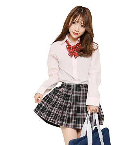 【ブラッククイーン】 制服セット 女子高生 制服 リボンブレザー スカート チェック ピンク 赤 JK