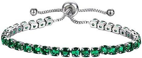 Womens Necklace Clearance Women s Rhinestone Crystal Bracelet Adjustable Bangle Cuff Jewelry product image
