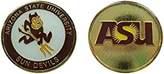 "Arizona State University ""Sun Devils"" Collectible Challenge Coin - Logo Poker - Lucky Chip"