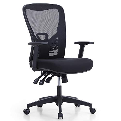 MAISON ARTS Ergonomic Mesh Office Chair, High Back Computer Task Chair Desk Chair with Adjustable Armrest and Lumbar Support for Home Office