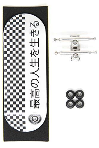 Skull Fingerboards Japan 34mm Pro Complete Professional Wooden Fingerboard Mini Skateboard 5 PLY with CNC Bearing Wheels