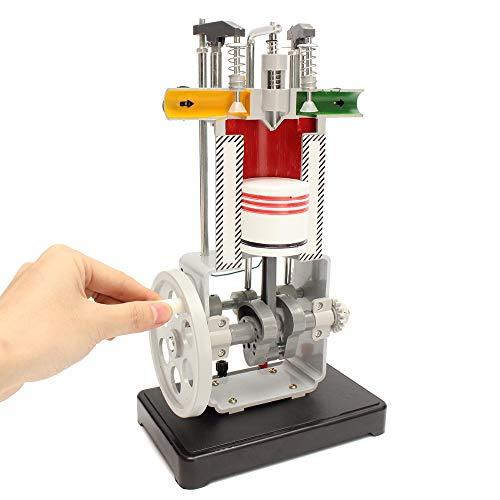 LMEIL Principio De Funcionamiento del Modelo De Motor Diesel De Prueba del Motor De Combustión Interna Instrumento De Enseñanza del Experimento De Física Mecánica