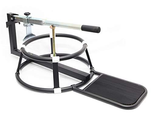 バイク用ビードブレーカー付 手動式 タイヤチェンジャー 16~21インチ タイヤ落とし