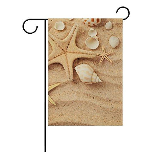 Jstel Home coquillages Tissu Polyester drapeaux de jardin Lovely et résistant aux moisissures personnalisés imperméables de 71,1 x 101,6 cm