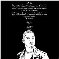 Suuyar Jermaine Cole J. Colerapヒップホップミュージックスターのポスターとプリントウォールアートプリントリビングルーム用キャンバスに装飾-24X24インチX1フレームレス