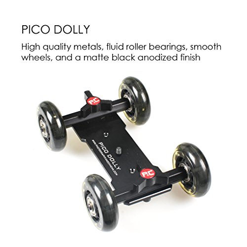 Pico Flex Dolly, Camera Table Dolly, Skater Dolly, Camera Slider Dolly, Mobile Rolling Slider Dolly Car Skater Video Track Rail, DSLR Mirroless Camera Camcorder Rig (Dolly Only)