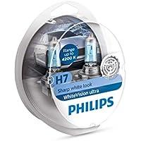 Philips WhiteVision bombilla para faros delanteros de coches 12972WVUSM - Bombilla para coches (H7, 55 W, Halógeno, Luces largas, Luces cortas, PX26d, 4200 K)