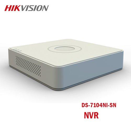 NVR 4 ingressi entry level mini con HDMI-VGA HIKVISION DS-7104NI-SN
