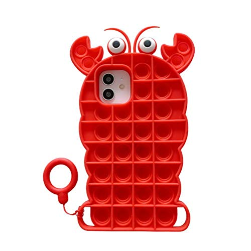 Push Bubble Sensory Toy Decompression Phone Case Sensory Toy - Carcasa para teléfono móvil compatible con juguetes
