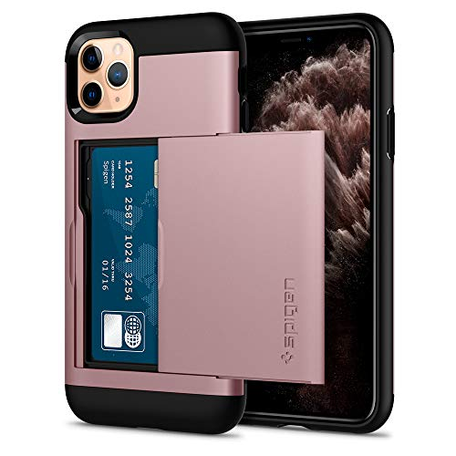 Spigen Slim Armor CS Compatible con iPhone 11 Pro MAX - Oro Rosa
