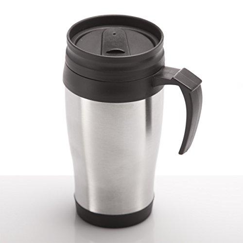 GOODS+GADGETS Coffee-2-go Thermobecher aus Edelstahl Trinkbecher Isotasse Isolierbecher Kaffeebecher Mehrweg-Becher Mug 400ml