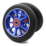 Z-FIRST 2PCS Replacement 110mm Pro Scooter Wheel with ABEC 9 Bearings Fit for MGP/Razor/Lucky Pro Scooters (A-Blue)