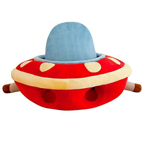 Sofá de peluche para bebé, asiento de bebé con dibujos animados, sofá extraíble, lavable, asiento de apoyo para bebé, cojín de felpa para niños y bebés rojo rosso Talla:65 * 60cm / 25.6 * 23.6in