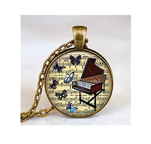 Vintage Piano Halskette, Vintage Piano Music Notes Schmuck,