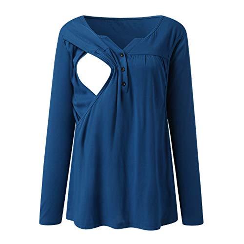 H.eternal(TM) Conjunto de pijama de maternidad con botón de...