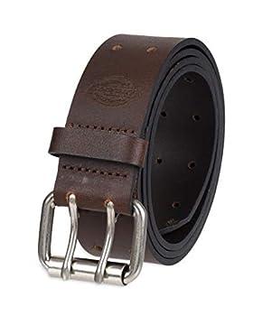 Dickies Men s Leather Double Prong Belt Brown 40  Waist  38