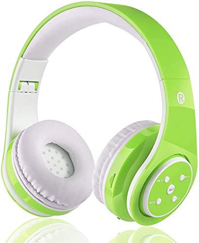 OXENDURE Auriculares Bluetooth inalámbricos incorporados Auriculares Recargables retráctiles para teléfonos Inteligentes con Tableta (Verde)