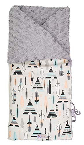 Saco arrullo invierno acolchado, relleno extraíble. Varios modelos y colores disponibles (Tipis y plumas)