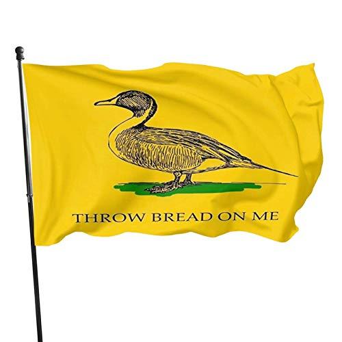 Kritin Throw Bread on me Garden Flag, Demonstration Flag, Family Gathering Flag and Competition Flag Outdoor Decor Garden Banner 3x5 Ft