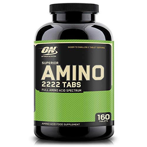 Optimum Nutrition ON Superior Amino 2222, Essential Amino Acids Tablets, EAA, BCAA, Unflavoured, 80 Servings, 160 Tablets