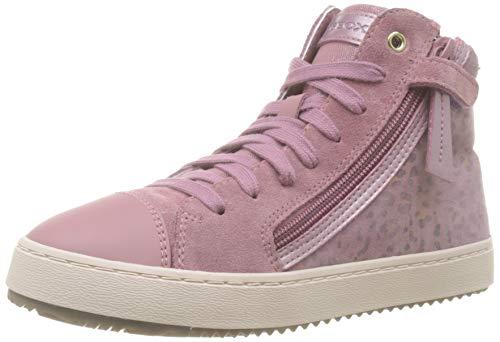 Geox Mädchen J Kalispera Girl D Hohe Sneaker, Pink (Dk Pink C8006), 28 EU