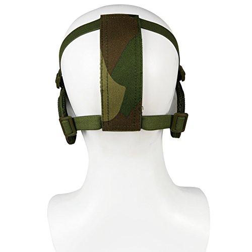 Worldshopping4U Tactical Airsoft CS Protective Lower Guard Mesh Nylon Half Face Mask (BK)