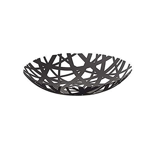 JIAHU Tower Frutero negro moderno para cocina con soporte para cesta de 1 pieza