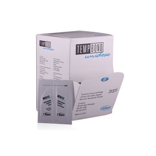 Kerr 31377 Temp-Bond Temporary Dental Cement, Contains 50 Unidose Packets, 120 g Total, 1 Mixing Pad