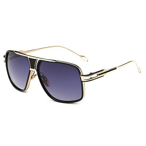 Gobiger aviatore da uomo, 100% protezione UV occhiali telaio in lega con custodia - - X-Large