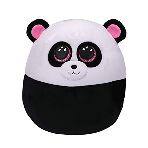Ty - Squish a Boos - Coussin Peluche Enfant Bamboo le panda 20cm, Ty - 39292