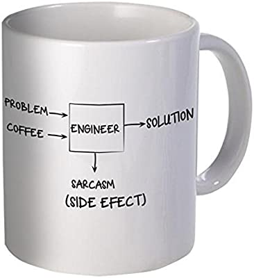 Willcallyou Engineer Problem Solution Sarcasm Side Effect 11 Ounces Funny Coffee Mug [並行輸入品]