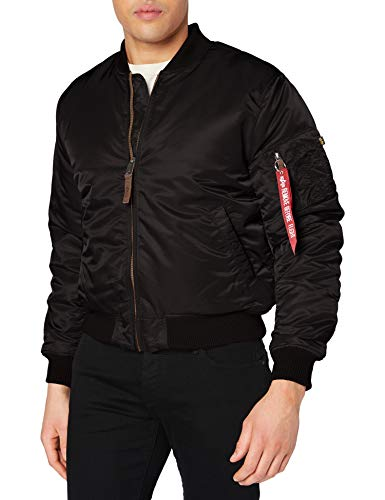 ALPHA INDUSTRIES Ma- 1 VF 59 Giacca, Nero (Black 03), M Uomo