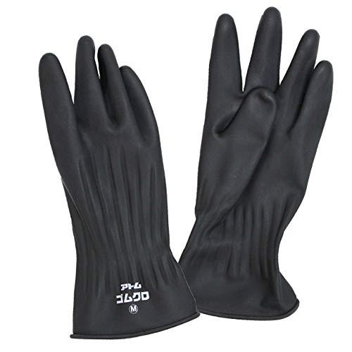 ゴム手袋 作業 手袋 農作業 手袋 天然ゴム 日本製 236 ゴムクロ アトム 236 ブラック S