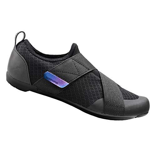 SHIMANO SH-IC100 High Performance Indoor Cycling Shoe, Black, Unisex EU 46 | Mens US 11-11.5 | Womens US 14-14.5