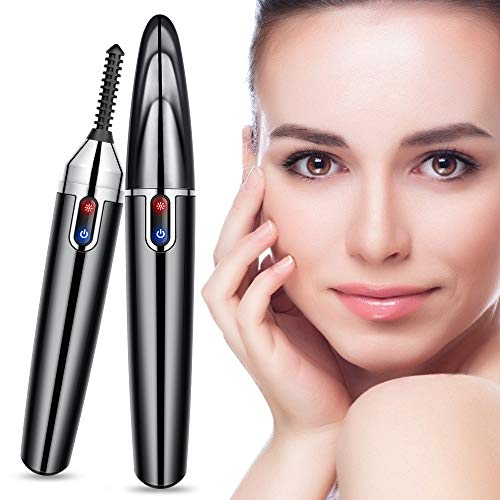 Beheizbare Wimpernzange, Heizbare Elektrische Wimpernbürste, Portable Heated Eyelash Curler, warm...