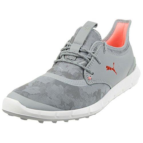 Puma Ignite Spikeless Sport Floral Damen Golfschuhe Frauen Schuhe grau orange Größe 40