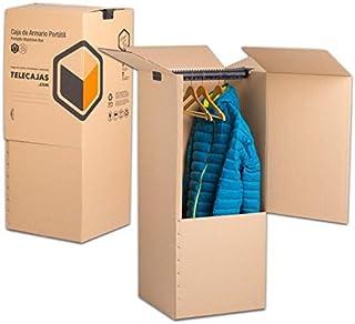 TeleCajas® | (2x) Cajas Armario Mudanza de Cartón |