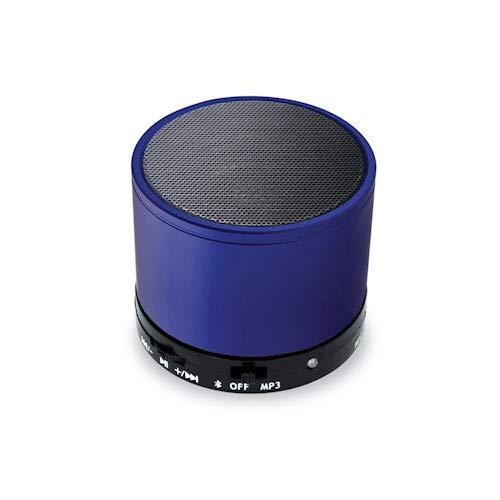 Setty Mini Bluetooth Lautsprecher, Super Mobile, Musikbox, Eingebautem Mikrofon, LED-Licht, Kabelloser Speaker (Blau)