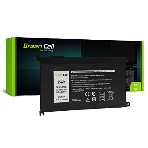 Green Cell Akku für Dell Inspiron 13 5368 5378 5379 7368 7375 7378 14 3480 5482 15 3580 3584 3585 3593 5565 5567 5568 5570 5575 5578 5579 7560 Laptop (3684mAh 11.4V Schwarz)