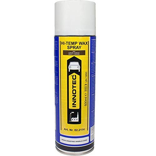Innotec Hi-Temp Wax Spray Unterboden und Hohlraumschutz Fettspray Dunkelbraun 500ml