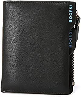 Bogesi Black Leather For Men - Bifold Wallets