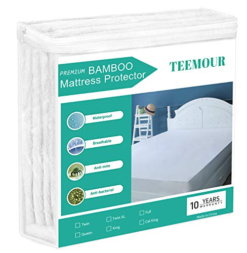 King Size Bamboo Mattress Protector Cooling Hypoallergenic Waterproof Mattress Protector