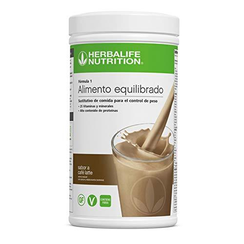 Batido Fórmula 1 Herbalife sustitutivo de comidas bajo en calorías. Rico en proteínas, vitaminas y minerales. Efecto saciante. Sabor Cafe Latte 550 g ⭐