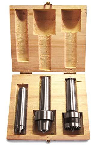 Holzstar Mitnehmerset MK2 (3-teilig, Konusaufnahme MK2, für Drechselmaschinen), 5931056