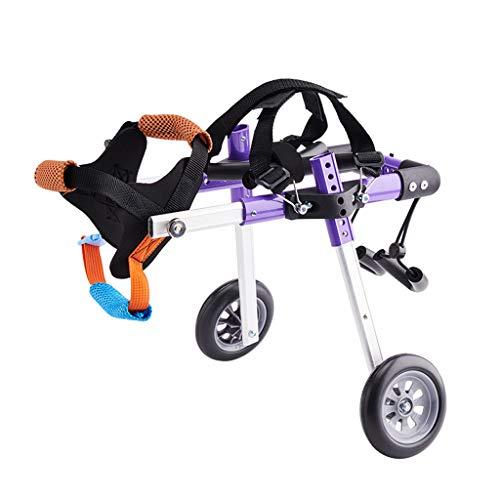 BETTY Silla de Ruedas para Mascotas Coche para Caminar discapacitado para Perros Coche de Ejercicio para rehabilitación de piernas traseras Mascota para Perro/Gato