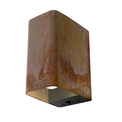 in-lite® LED Wandleuchte ACE UP-DOWN   warmweiß   12V AC   2x LED High Power 3.5W (Corten)